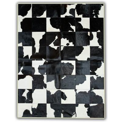 Lederteppich   Schwarz-Weiß 30
