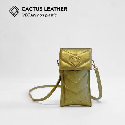Handytasche - Kaktusleder   Gold