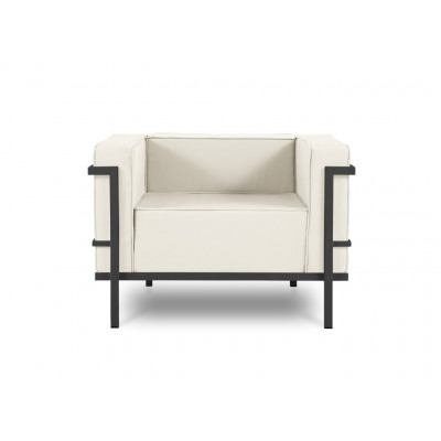 Outdoor-Sessel Cannes | Beige & Anthrazit Gestell