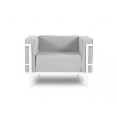 Outdoor-Sessel Cannes | Grau & Weißes Gestell