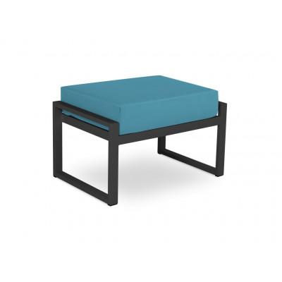 Hocker Nicea | Dunkelgraues Rahmen & Blau