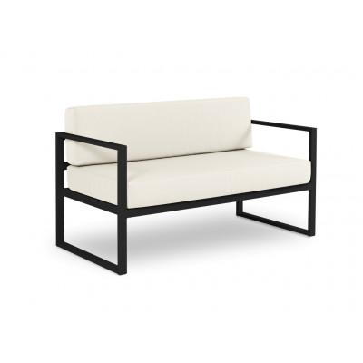 2-Sitzer-Sofa Nicea | Dunkelgraues Gestell & Beige