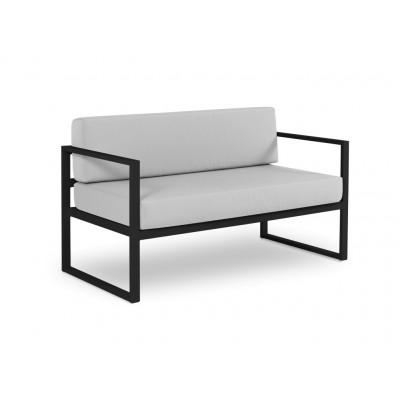 2-Sitzer-Sofa Nicea | Dunkelgraues Gestell & Grau