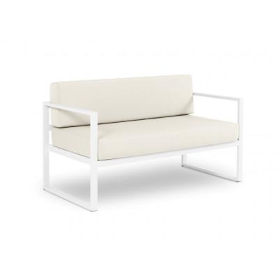 2-Sitzer-Sofa Nicea | Weißer Rahmen & Beige