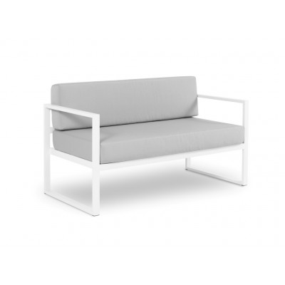2-Sitzer-Sofa Nicea | Weißer Rahmen & Grau
