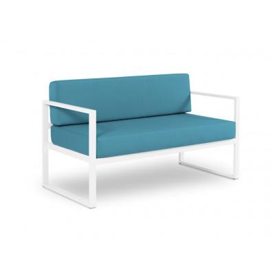 2-Sitzer-Sofa Nicea | Weißer Rahmen & Blau