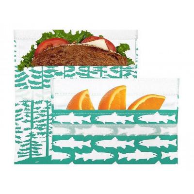 Wiederverwendbare Velcro-Sandwich-Tasche | 2er-Set | Calypso Forest