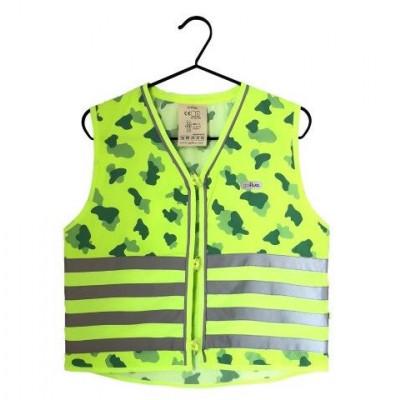 Fluo Vest Boys & Men Camou | Green