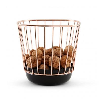 Canasta Wire Basket   Black & Copper