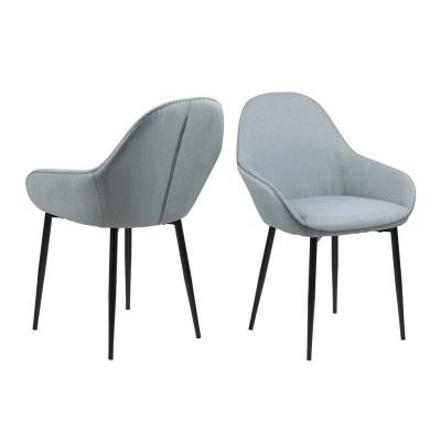 2-er Set Stühle Fabrice | Hellgrau