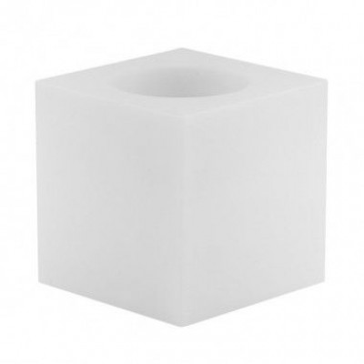 Crystal Tea Light Holder | White