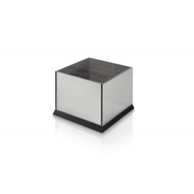 Kerzenständer für 9 Teelichter Spiegelglas | Schwarz