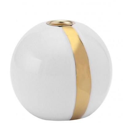Kerzenständer Karma | Weiß & Gold #1