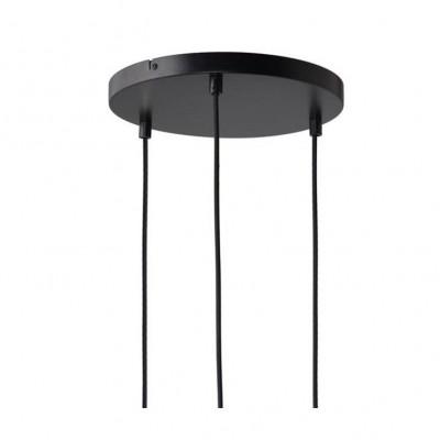 Canopy For 3 Pendant Lights | Black