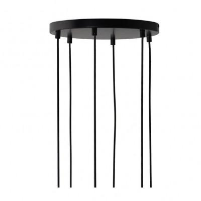 Canopy For 6 Pendant Lights | Black