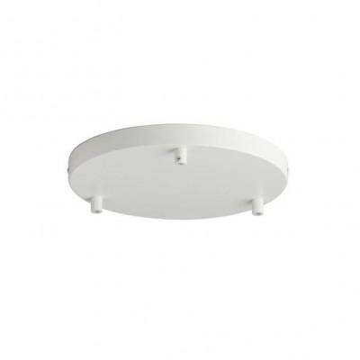 Canopy For 3 Pendant Lights | White