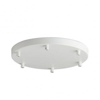 Canopy For 6 Pendant Lights | White