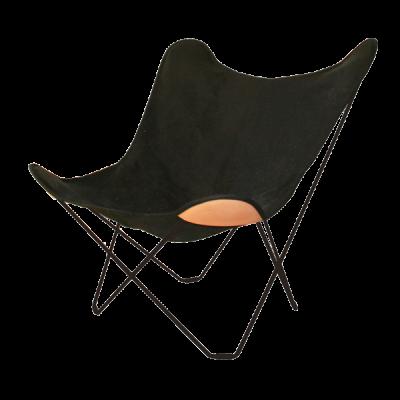 Stuhl Butterfly Segeltuch | Schwarzes Stahlgestell