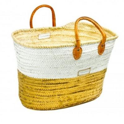 50/50 Basket Maxi   White & Gold