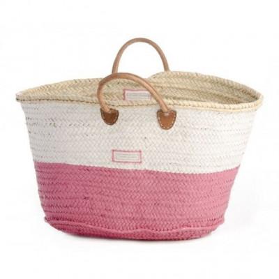 50/50 Basket Maxi   White & Pink