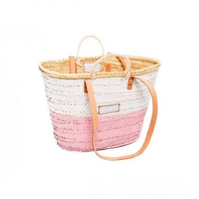 50/50 Basket Big Medium   White & Pink