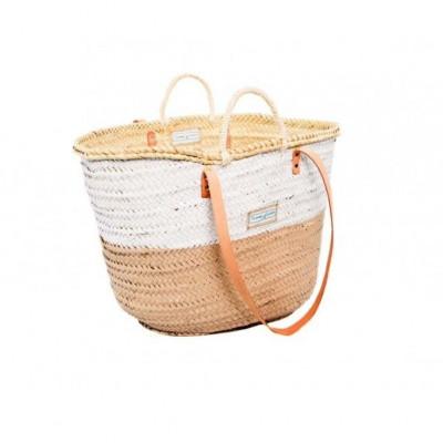50/50 Basket Big Medium   White & Beige
