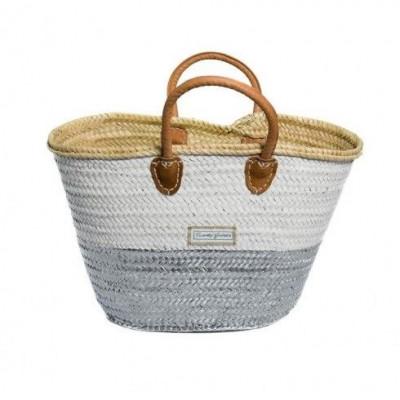 50/50 Basket Minimaxi   White & Silver