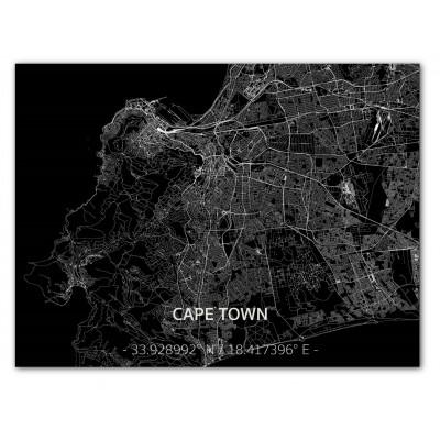 Metall-Wanddekoration | Stadtplan | Cape Town