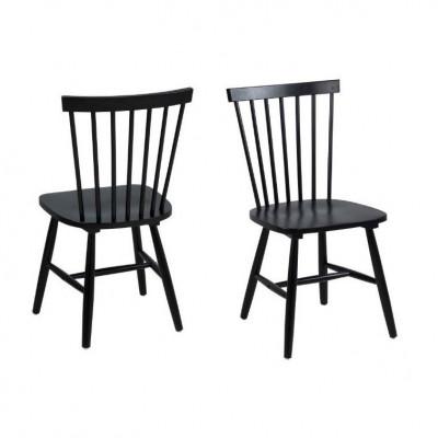 Esszimmerstühle Lino 2er-Set   Schwarz