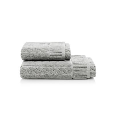 Towel Amelia Set of 2 | Silver
