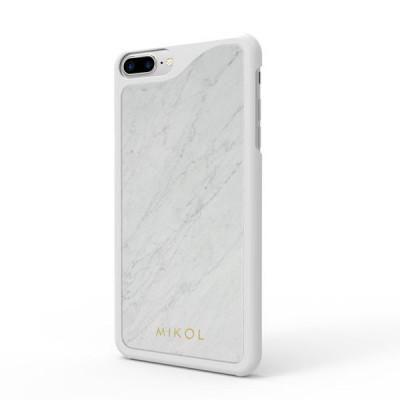 Marble iPhone Case | Carrara White with White Border