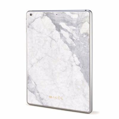 Marble iPad Cover | Carrara White (White Border)