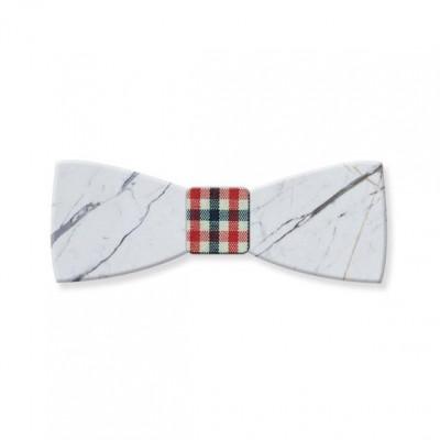 Marble Bow Tie | Carrara White