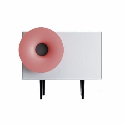 Cabinet Sound System | Seidengrau & Rosa Koralle
