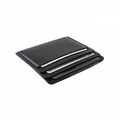 Cascade Wallet | Black Essex Horween Leather