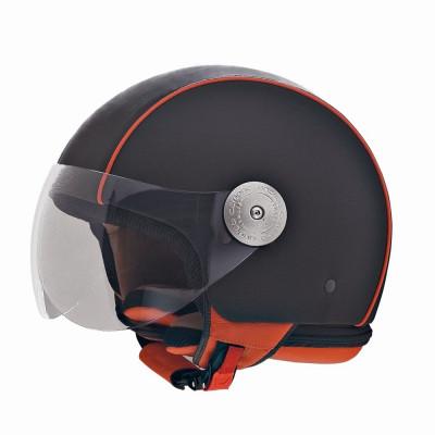 Helm Schwarz /Orange