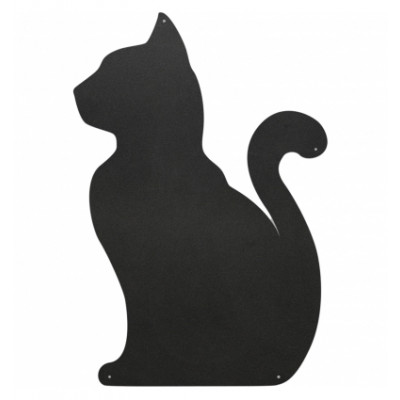 Magnettafel Katze | Holzkohle