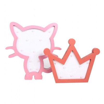 Light Box Cat + Crown