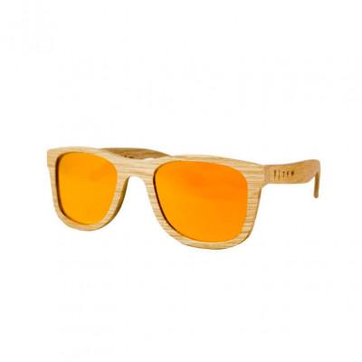 Wooden Frame Sunglasses Caviuno Orange Mirror
