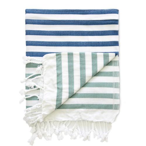 Hammam-Handtuch Sheker | Blau & Grün