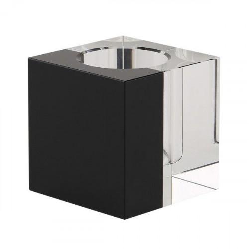 Crystal Tea Light Holder | Clear/Black