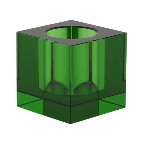 Crystal Tea Light Holder   Green