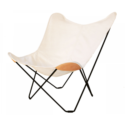 Canvas Butterfly Chair | White