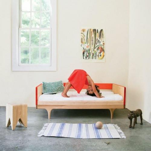 Wohnwagen-Diwan/Junior-Bett - Rot