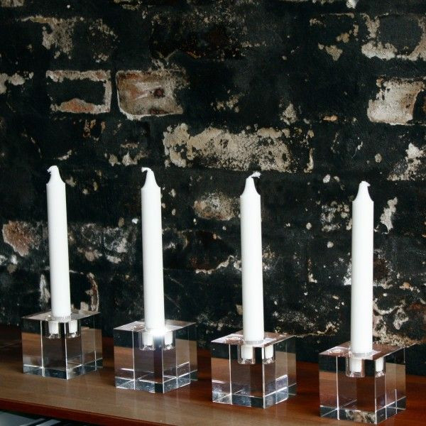 Crystal Candle Holder   Clear