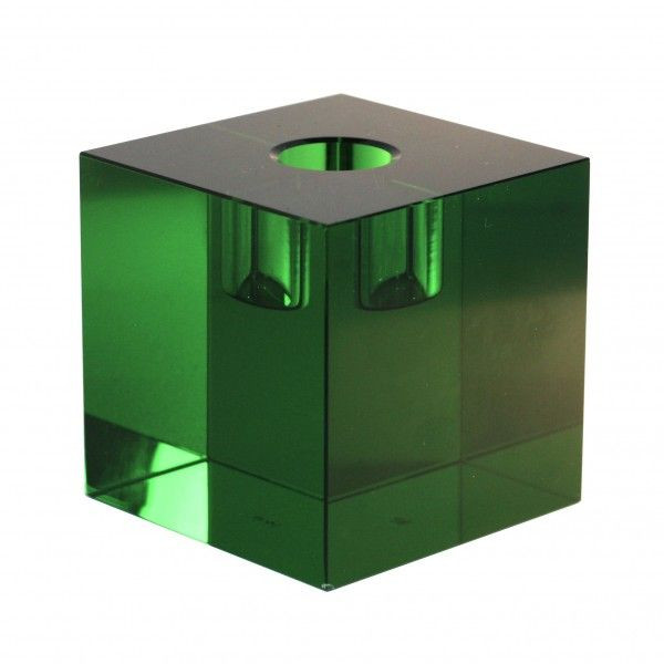 Crystal Candle Holder | Green