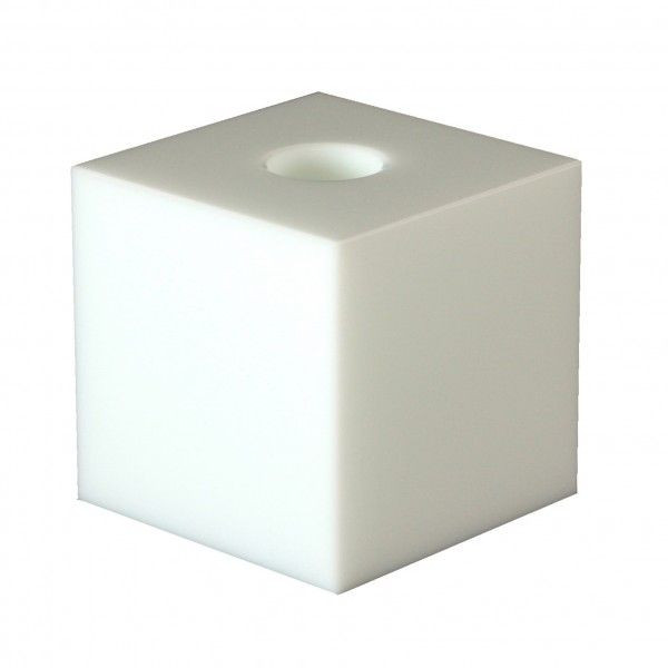Crystal Candle Holder | White