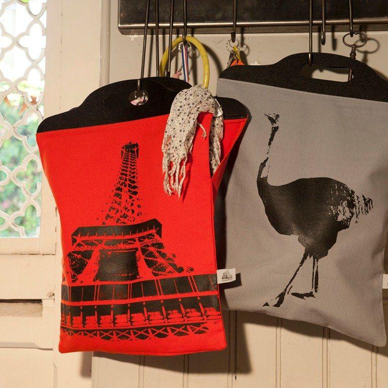 Handtasche Strauß Grau