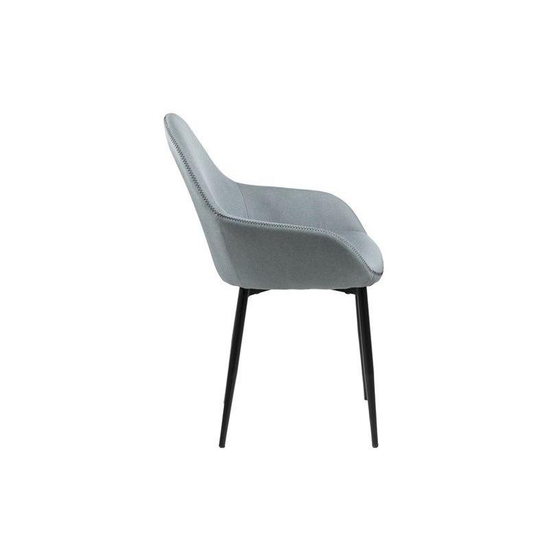 Set of 2 Chairs Fabrice | Light Grey
