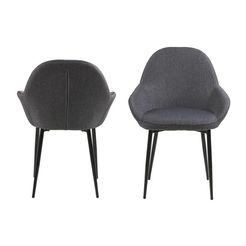 Set of 2 Chairs Fabrice | Grey